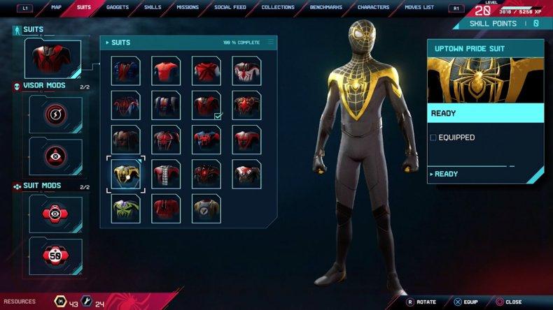spiderman miles morales uptown pride suit