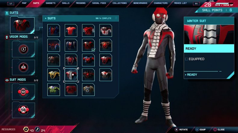 spiderman miles morales winter suit