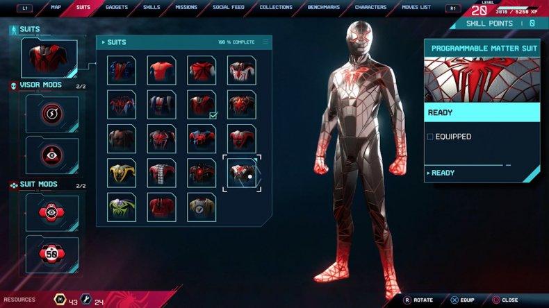 spiderman miles morales programmable matter suit