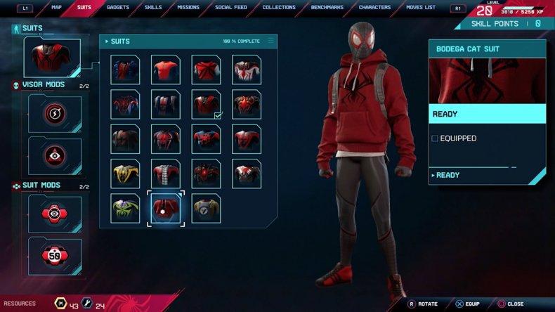 spiderman miles morales bodega cat suit