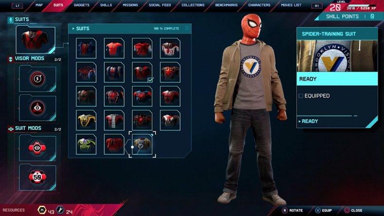 spiderman miles morales spider training suit