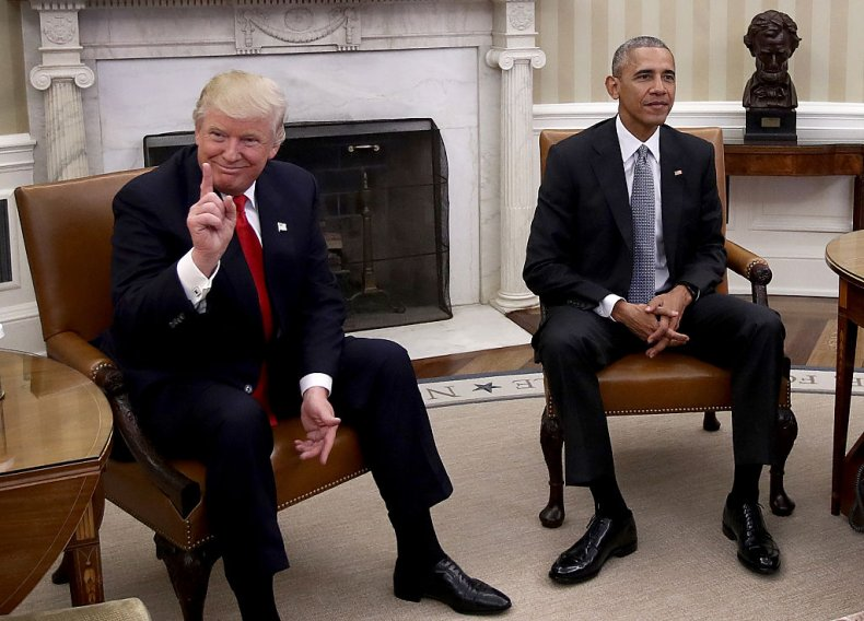 Trump and Obama Meet in 2016