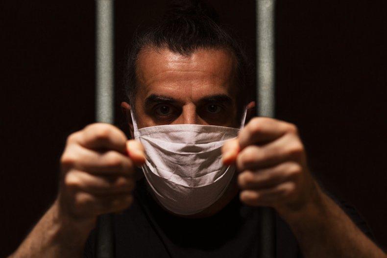 Prisoner with Face Mask