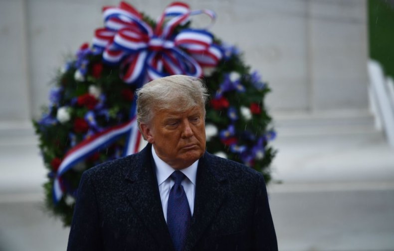 President Trump Attends a Wreath Laying