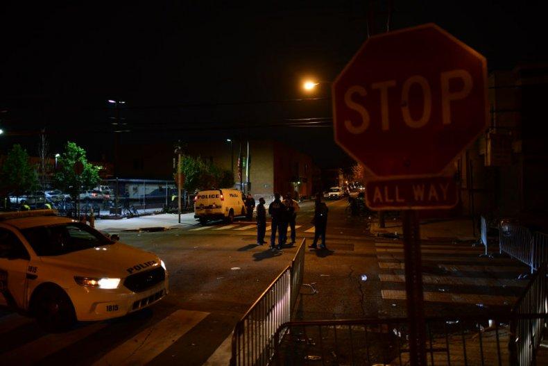 Philadelphia ambulance damaged