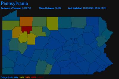 Pennsylvania Power Outage