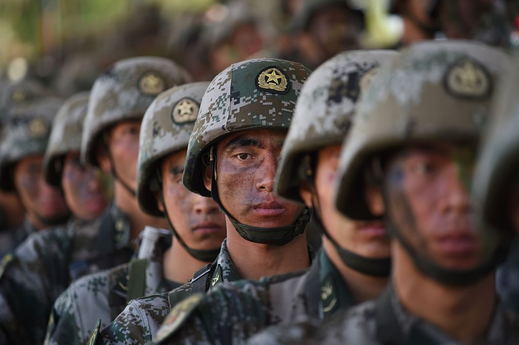 Chinese soldiers storm beach in military landing drill amid Taiwan war tension