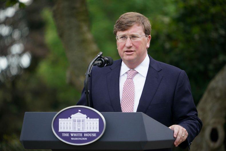 US-POLITICS-TRUMP-COVID Mississippi Gov. Tate Reeves speaks on