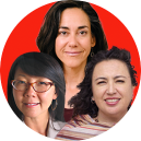 Christine Ahn, Yifat Susskind and Cindy Wiesner