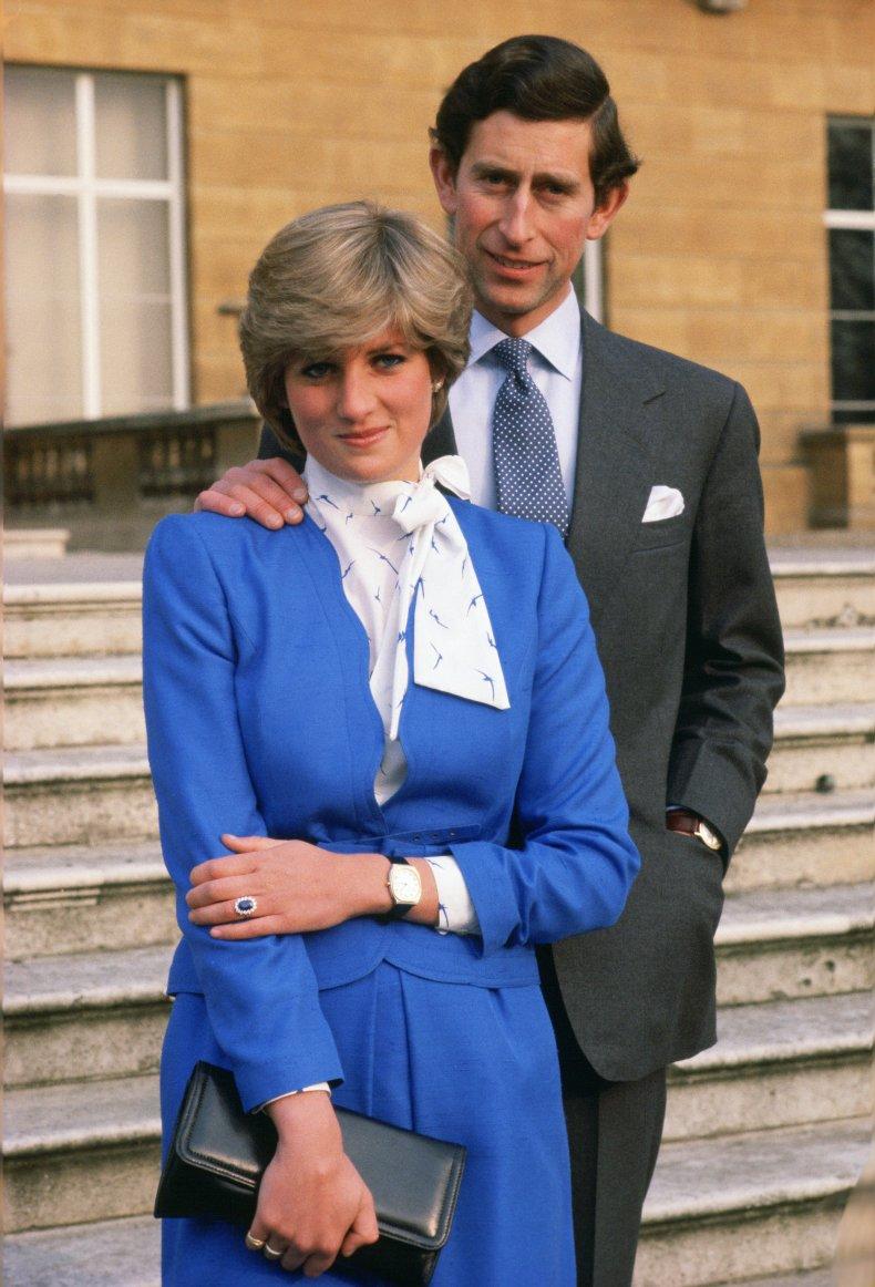 Charles Diana Engagement Photo