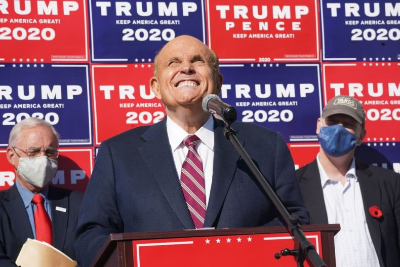 Giuliani Speaks at a News Conference