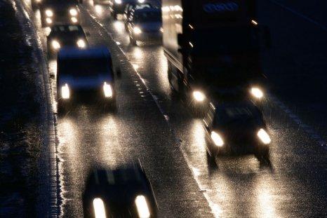 dark driving road
