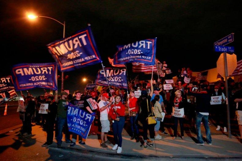 Trump Supporters in Clark County, Nevada