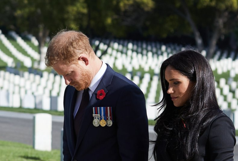 Prince Harry and Meghan Markle Cemetary Remembrance