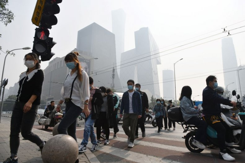 A polluted day in Beijing October 2020
