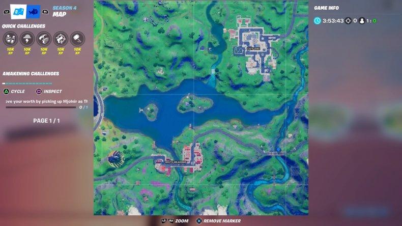 fortnite colored bridge location 1 map