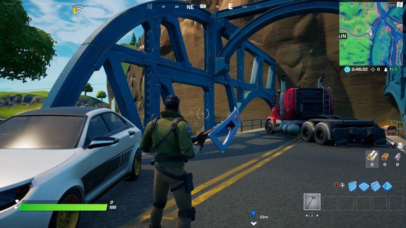 fortnite colored bridge location 3 gameplay