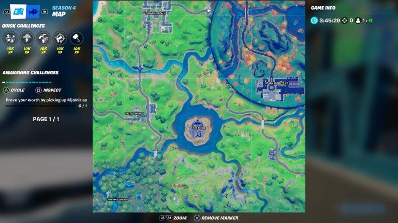 fortnite colored bridge location 4 map