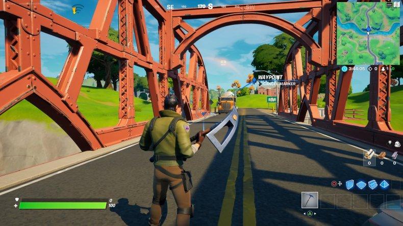 fortnite colored bridge location 4 gameplay