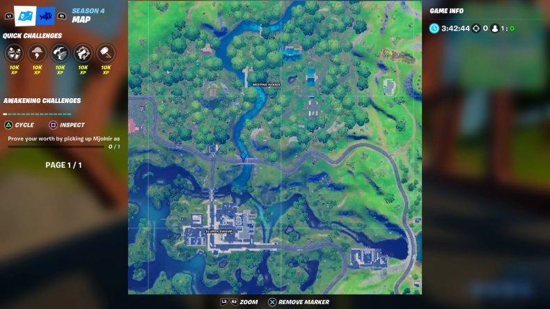 fortnite colored bridge location 5 map