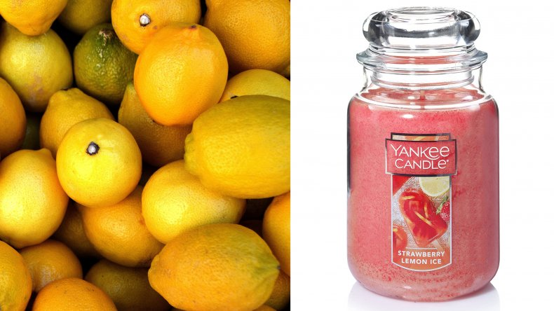 Yankee Candle Strawberry Lemon Ice Scented Candle