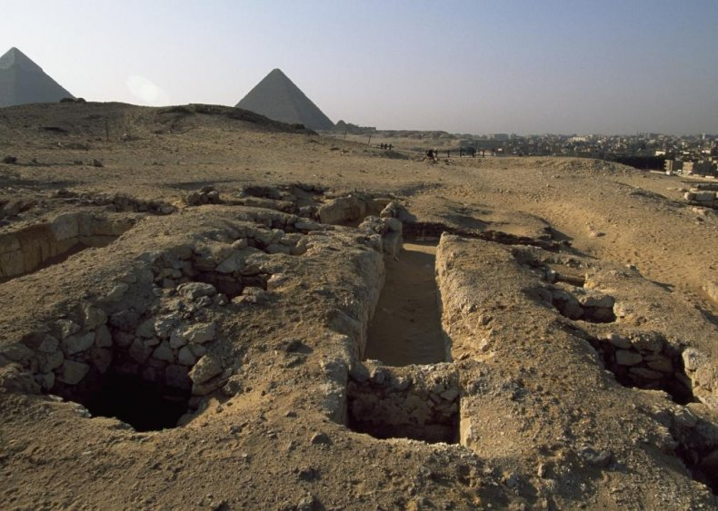 Tombs of pyramid builders in Egypt