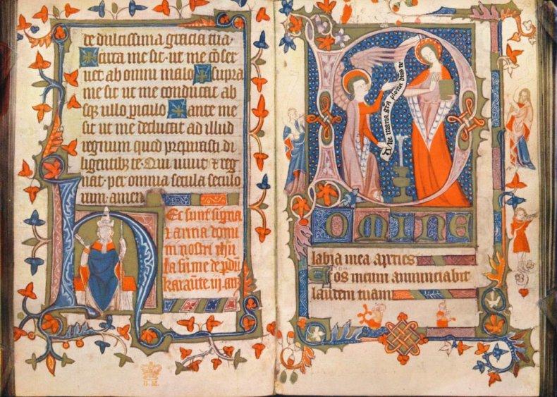 Medieval female scribe