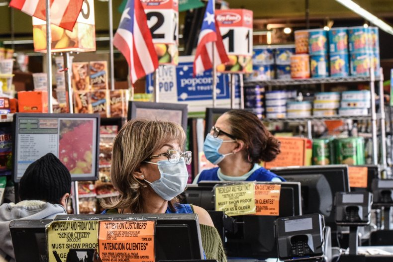 Masks grocery store