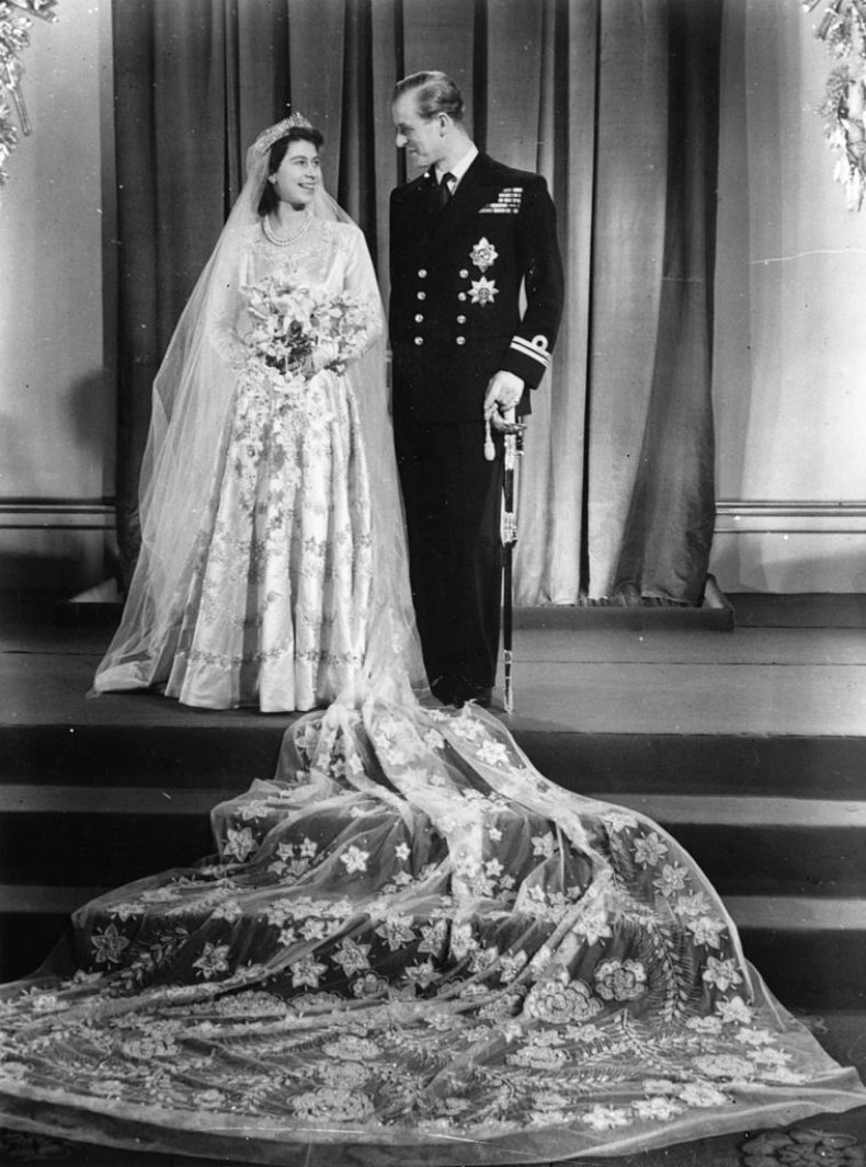 Queen Elizabeth II Wedding Day Prince Philip