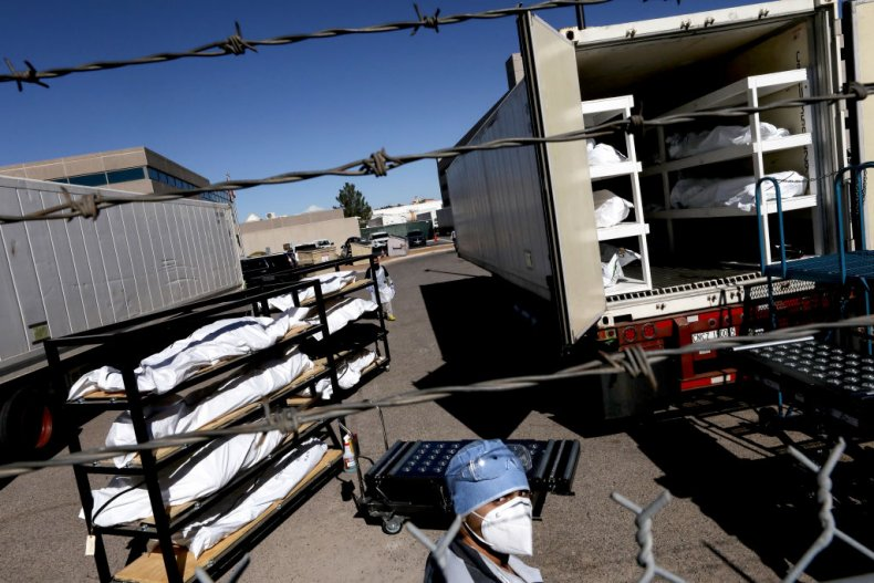 Trailer morgue in Texas