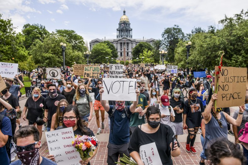 Denver Colorado BLM protest June 2020