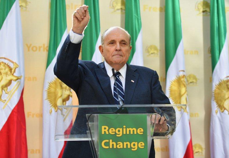 rudy, giuliani, iran, regime, change