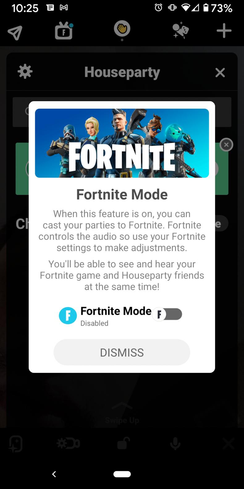 fortnite houseparty mode