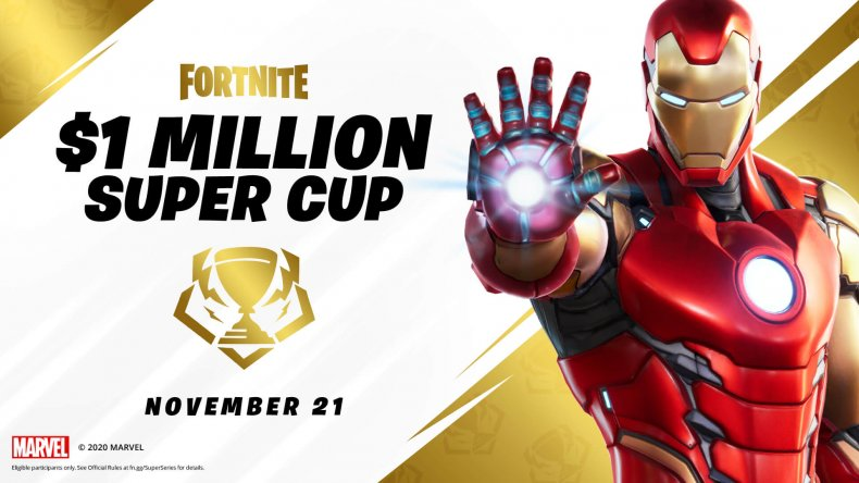 fortnite 1 million super cup start time