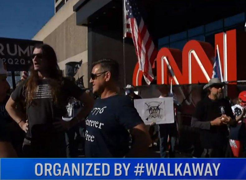 cnn sucks rally atlanta headquarters