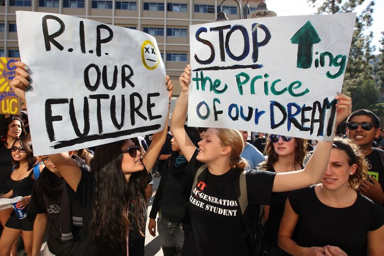 student loan debt protest forgiveness
