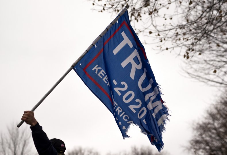 Supporter of President Trump in Minnesota