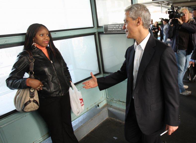 rahm emanuel chicago handshake rejected