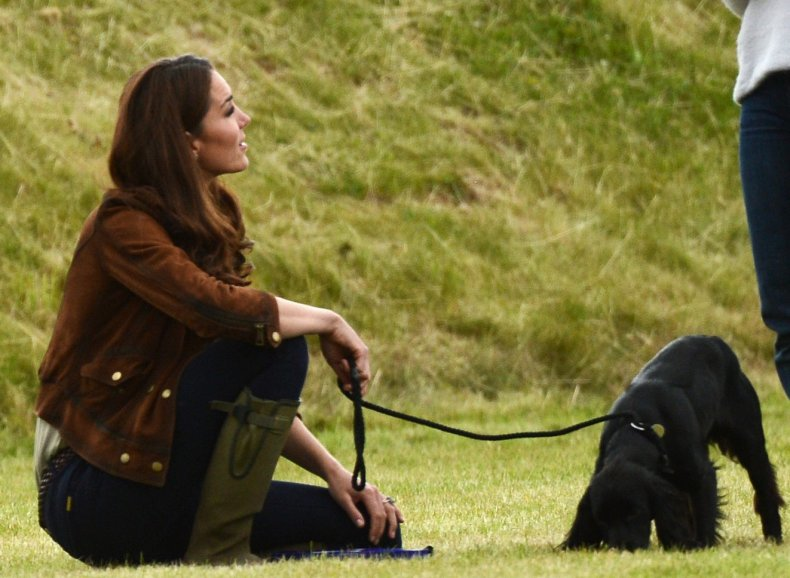 Kate Middleton and pet Dog Lupo