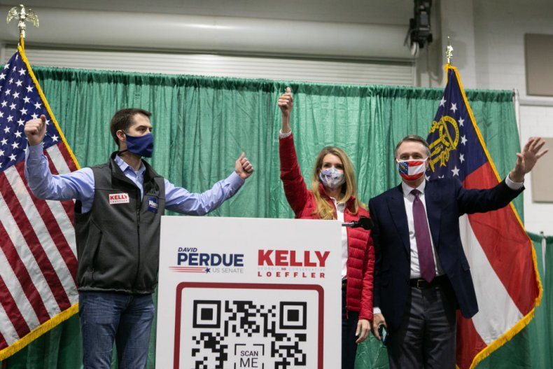 Sens.  Kelly Loeffler, Perdue and Tom Cotton