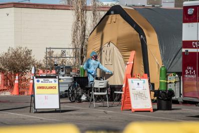 Hospital tent in El Paso