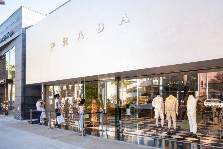 Prada store Los Angeles August 2020