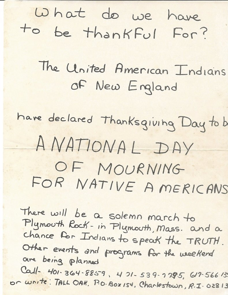 National Day of Mourning flyer