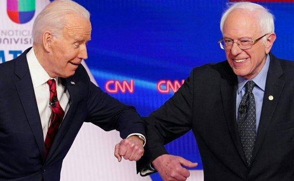 Biden and Sanders