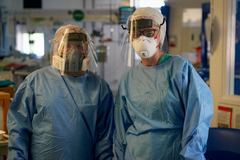 Intensive care nurses at Wrexham Maelor Hospital