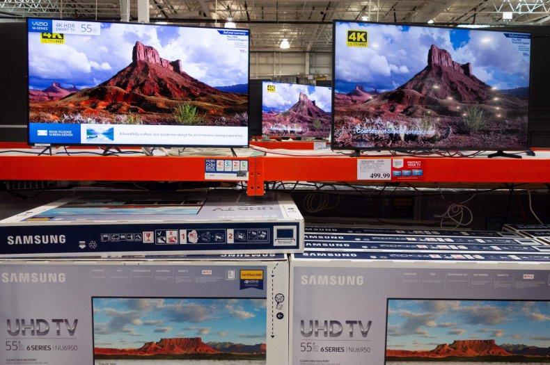 Televisions at Costco Washington, D.C. 2018