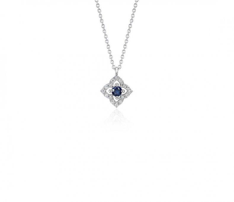 blue nile diamond necklace