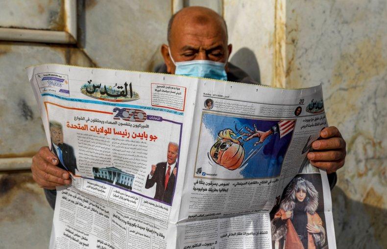 palestinian, newspaper, jerusalem, biden, election