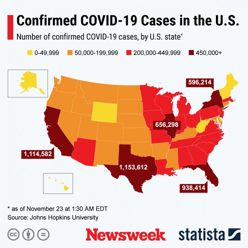 Cases of COVID-19 in the United States