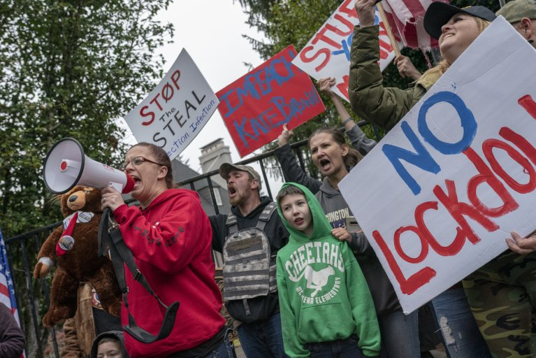 Pro-Trump Protest Oregon COVID Lockdown